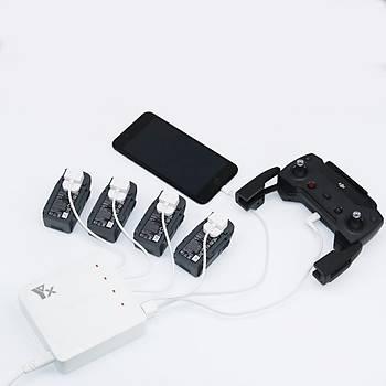 DJI Spark Þarj 6 in 1 4 pil 2 USB Portlu 60 Dakika Tam Þarj