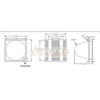 LG UV 5W 385nm LG3535 20mm PBC Board Boncuk Led
