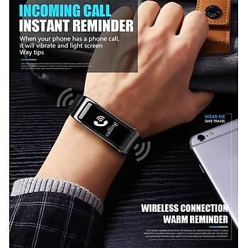 Bluetooth Y3 Handsfree Akýllý Saat Kulaklýk Nabýz Monitörü Spor Pedometre Spor Takip
