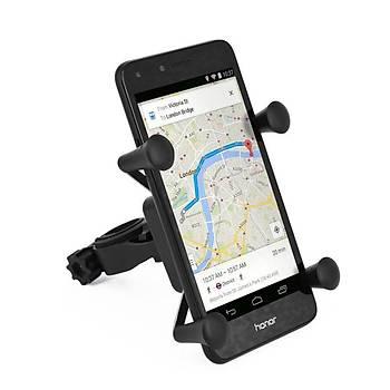 Motorsiklet Bisiklet Telefon GPS Tutucu 360 Derece Dönen X-Kavrama Kelepçe