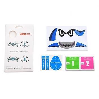 DJI Spark ve DJI Mavic Pro Kuþ Kaçýran Shark Sticker Etiket