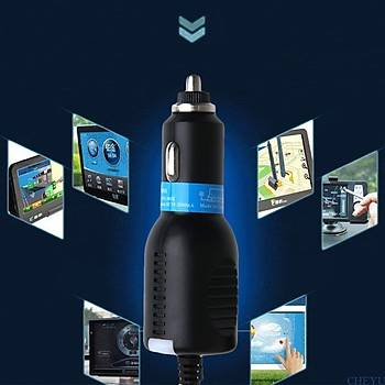 Araç Navigasyon & Kamera 3.5mt DC 5V 2.1A Mini USB Þarj Adaptörü Kablosu