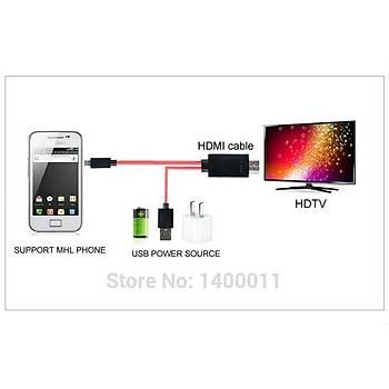 Telefondan-TV'ye HDMI HD TV Kablo Adaptörü 1080P