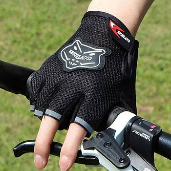 Bisiklet Yarým Parmak Spor Yazlýk Eldiven Egzersiz Aðýrlýk Kaldýrma