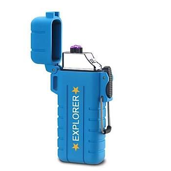 Çift Ark Outdoor Plazma Çakmak Su Rüzgar Darbe Geçirmez USB Elektrik Þarjlý