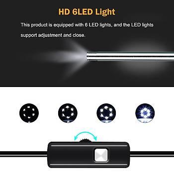 5.5 mm Endoskop HD Mini Kamera Otoscop Kulak Temizleme USB görsel PC Borescope