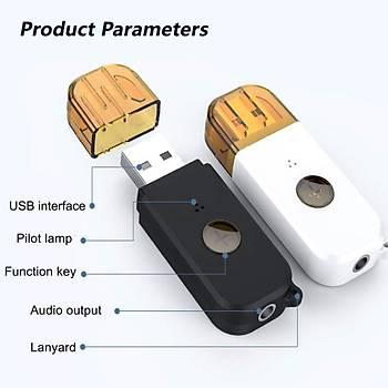 Stereo 3.5mm USB Bt 4.2 Ses Alýcý Çubuk Tek Tuþla Çaðrý Cevaplama Fonksiyonu