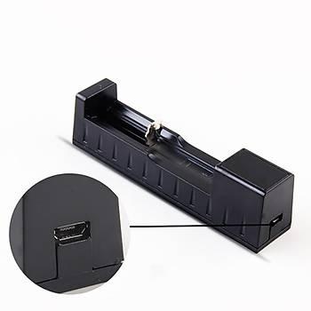 18650 14500 26650 Li-Ion USB Þarj Cihazý Tek Pil Kapasiteli 3.7-4.2 V Þarj Koruma