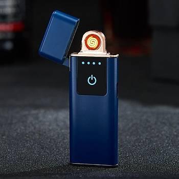Tungsten Ýndüksiyon Elektronik Çakmak USB Þarjlý Anti Rüzgar