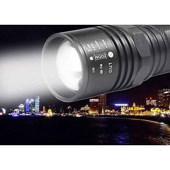 SKYWOLFEYE 3000 Lümen 4 Mod CREE T6 LED El Feneri