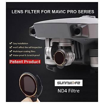 DJI Mavic Pro Alpine White Kamera Ýçin Kýzaklý Upgrade Versiyon Optik Lens Filtre ND4