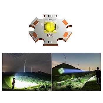 XHP90.2 Led Teleskopik Zoom El Feneri USB Þarjlý Pil Göstergeli