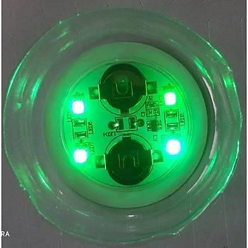 Parti Led Dekor Bardak Þiþe Etiket Parlak 4 LED Flaþ ve Düz Yanma 45mm