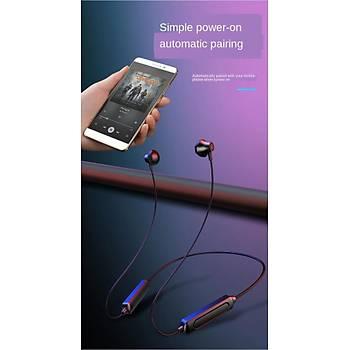Boyun Tipi Manyetik Bluetooth 5.0 Kablosuz Spor Kulaklýk Mikrofon