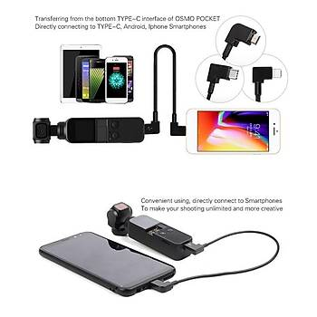Dji Osmo Pocket USB Tip C den Android Telefona OTG Veri Kablosu