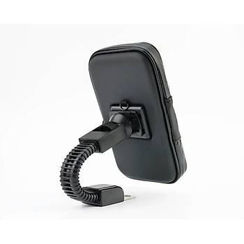 Motosiklet Aynasýna Monte Telefonu Tutucu Su Geçirmez Kýlýf 135*75mm