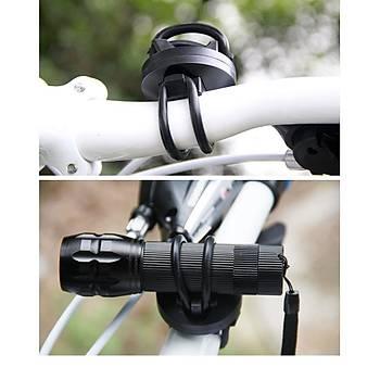 Bisiklet Motorsiklet Gidona Monte 360° Döner El Feneri Montaj Klip Kelepçe
