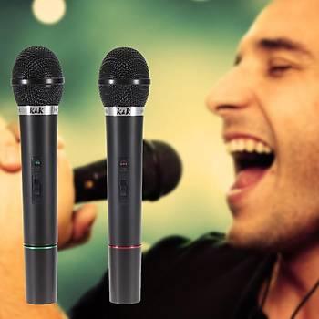 Profesyonel Çift Kablosuz Mikrofon Sistemi Sahne Toplantý