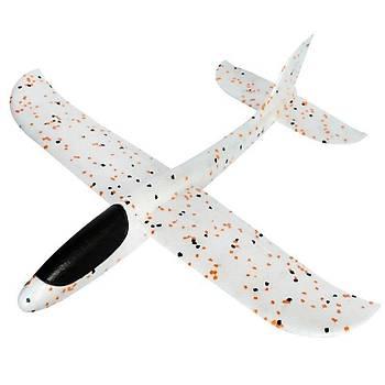 Planör Uçak 35cm EPP Silikonlu Köpük Elden Fýrlatma Orange Dot