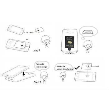 HTC M9 için Qi Kablosuz Þarj Alýcýsý
