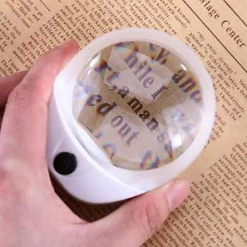 10x Büyüteç USB Þarjlý 2 Kademeli Led Aydýnlatma Optik HD Lens Masa Üstü