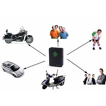 Araç GPS Tracker GSM GPRS LBS Izleme Dahili Pil