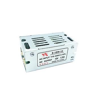 Trafo Güç Adaptörü Mini Boy led Anahtarlama 12 V 1.25A 15 W