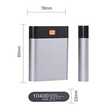 Dijital Panolu DIY Power Bank Boþ Kutusu 5V Çift USB 4 X 18650 Pil Ýçin