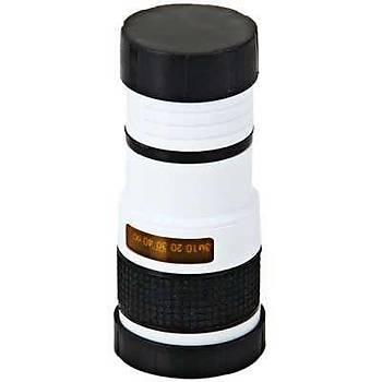 8x 18 Monocular Mini Teleskop ve Telefon Aparatý