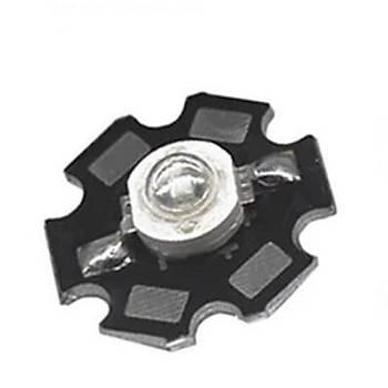 UV 395nm 3W Yüksek Güç Led Diyot Çip Siyah PCB Bord 1 Adet