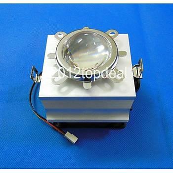 20W-100W LED Alüminyum IsýEmici Soðutma Faný+Reflektör+ 44mm Lens