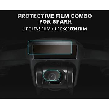 DJI SPARK 2 Adet Kamera Lens Koruyucu Film Drone Vücut Ekran Filmi