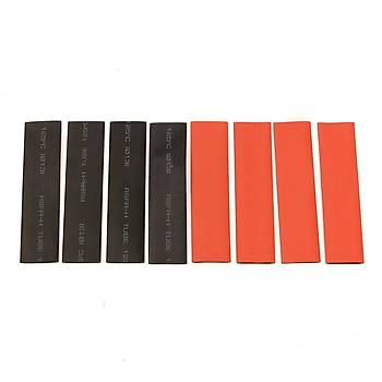 Poliolefin Isý Shrink Boru Tüp Sleeving Wrap Tel Kablo Yalýtým Siyah Kýrmýzý 2:1 127 Adet