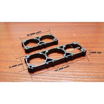 10 Adet Plastik 3 Hücre 18650 Li-on Pil Tutucu Braket