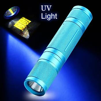 UV Led El Feneri 365nm Mor Ultra Viyole Iþýk Blacklight Torch Lambasý