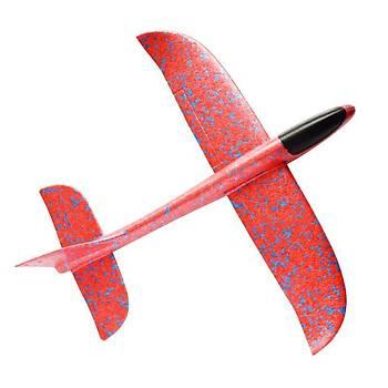 Planör Uçak 48cm EPP Silikonlu Köpük Elden Fýrlatma Red Storm