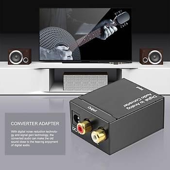 Dijital Optik Koaksiyel RCA Toslink den Analog Ses Dönüþtürücü