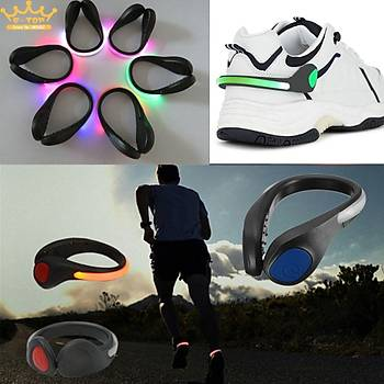 LED Iþýklý Ayakkabý Klip Gece Güvenlik Uyarý LED Koþu Bisiklet