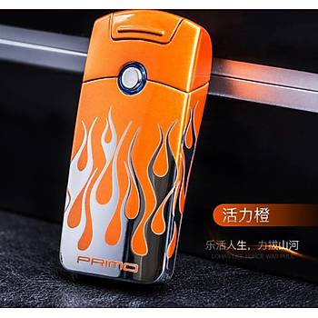 Darbeli Ark Plazma Rüzgar Çakmaðý Alevsiz USB Þarjlý Elektrikli Black Flame