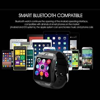 Akýllý Saat Telefon Dokunmatik Ekran Kameralý TF Kart Bluetooth Android IOS