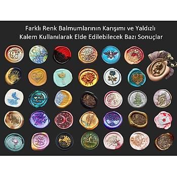 Mektup Damga Mühürü Taç & Arý + 30 Mühür Mumu + Eritme Kaþýðý