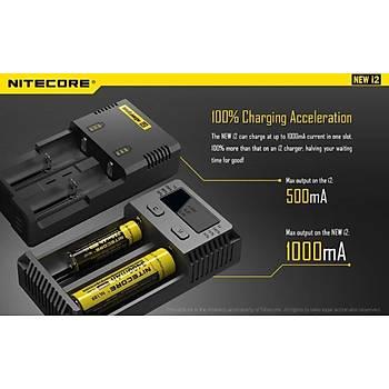 Nitecore i2 Digital LCD Akýllý Devre Þarj Cihazý li-ion IMR Nicd