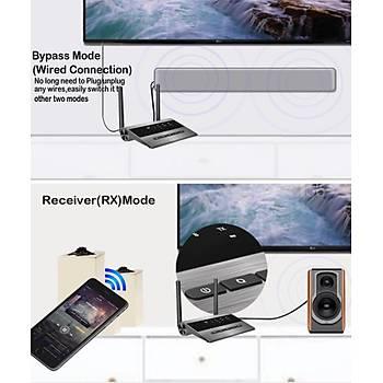 Optik HD Ses Müzik Rx-Tx BT5.0 APTX LL 3 Kulaklýk Baðlantýsý
