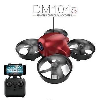 Mini RC Drone RTF HD Kamera  Havada Sabit Kalma  WiFi FPV DM104S