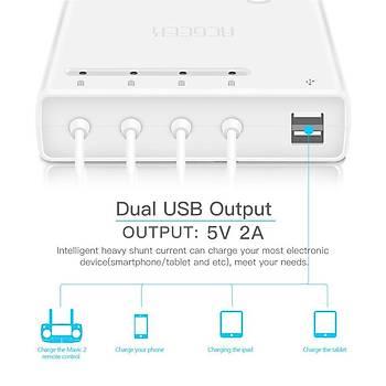 DJI Mavic 2 Pro/Zoom 6 in 1 Pil Çoklu Þarj Hub USB  Baðlantý Noktasý