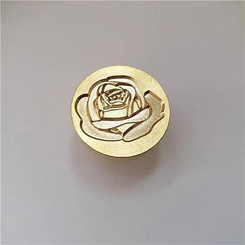 Mektup Damga Mühürü Blooming Rose + 30 Mühür Mumu + Eritme Kaþýðý