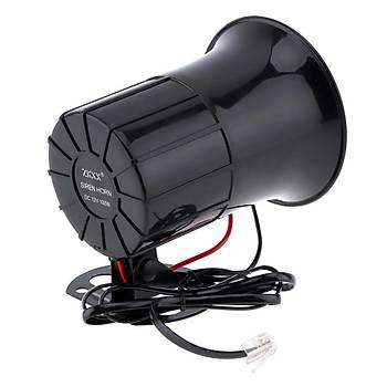 Araç Motosiklet Megafon Hoparlör 115db 100W 12V 6 Farklý Siren Sesi Mikrofon