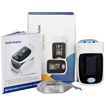 RZ001 OLED Göstergeli Parmak Nabýz Oximetre SpO2 Oxygen Monitor