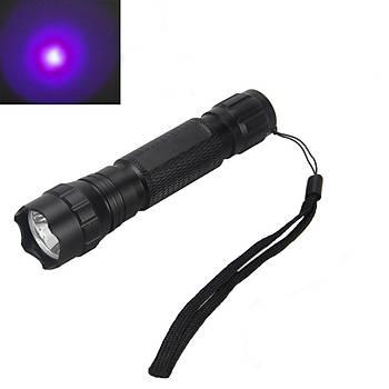 5W UV MOR Q5 LED FENER 2000lm 18650 - AA