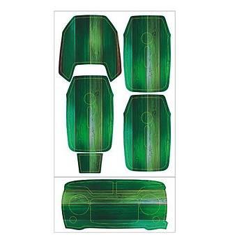 Dji Mavic Pro için Green Wood Su Geçirmez PVC Cilt Çýkartma Seti